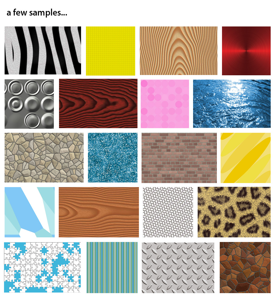 500+ Textures - sample sheet