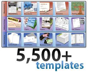Print Shop Pro - templates