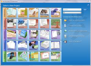 Print Shop Pro - project editing