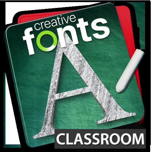 Creative Fonts - classroom