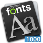 Creative Fonts - 1000 collection blue