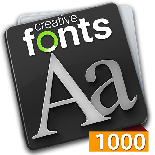 Creative Fonts - 1000 Orange