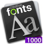 Creative Fonts - 1000 collection purple