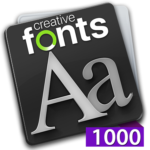 Creative Fonts 1000 Purple