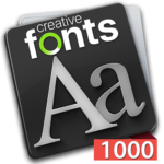 Creative Fonts - 1000 collection red