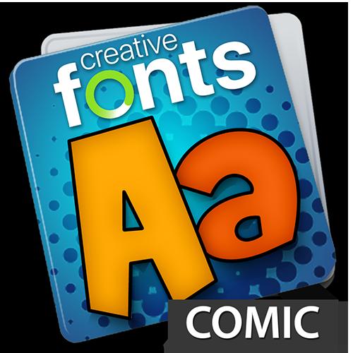 Creative Fonts - comic