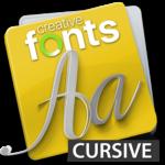 Creative Fonts - cursive