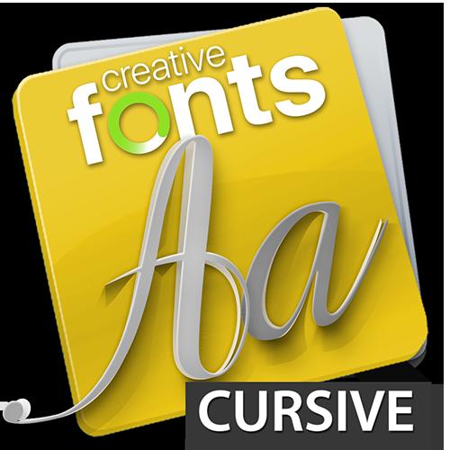 Creative Fonts Cursive