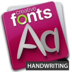 Creative Fonts - handwriting