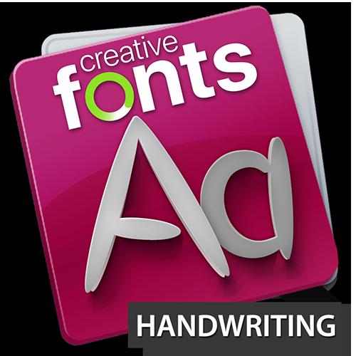 Creative Fonts - handwriting