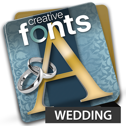Creative Fonts Wedding
