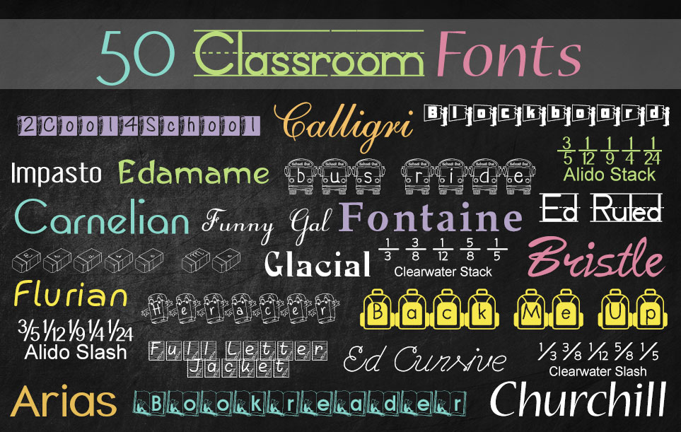 Classroom Fonts sample